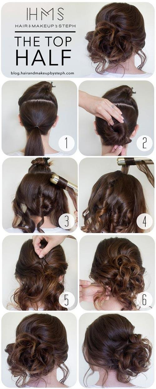 A collage of a person's hair  Stand Out Updo hair styles