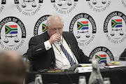 Angelo Agrizzi, top boss of corruption-accused facilities management company Bosasa, prepares to give testimony on January 16 2018 at the Zondo state capture commission in Parktown, Johannesburg.