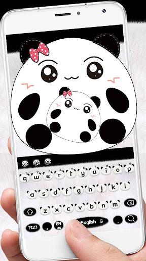 Cute Panda Keyboard Theme screenshots 6