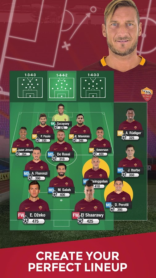 AS Roma Fantasy Manager 2017: captura de pantalla