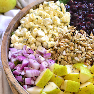 Pear, Walnut & Gorgonzola Salad.