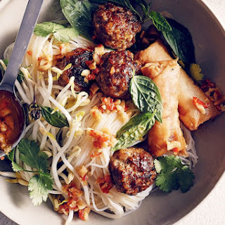 Bun Cha (Vietnamese noodles with pork and herbs)