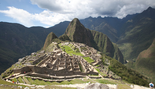 Panorama of Machu Picchu, built by the Incas as an estate for their emperor 1450 but abandoned a century later during the Spanish Conquest.