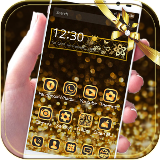 Gold Glitter theme Neon Gold - Apps on Google Play