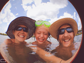 Photo: Blue Sky+Puffy Clouds+Water+Goofballs :-)  #WeAreFamily #WeAreParents #Vacation #Summer