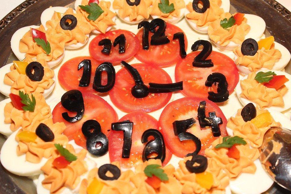 Salad Watch, Salad, Clock, Buffet, Cream, Nutrition