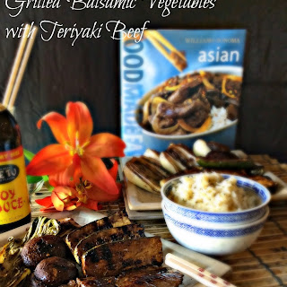 Grilled Balsamic Vegetables with Teriyaki Beef