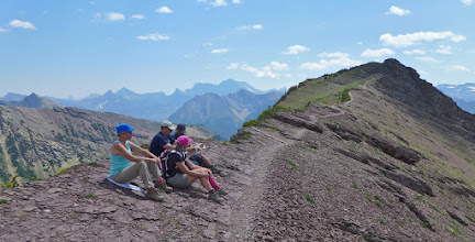 Photo: Rest stop before we summit the unnamed peak - There were too many people up there.