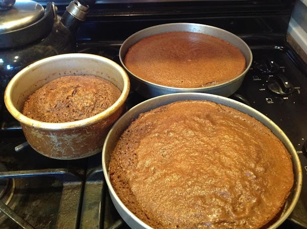 Cool in pans 10 minutes. Then remove to wire racks to cool completely. Frost...