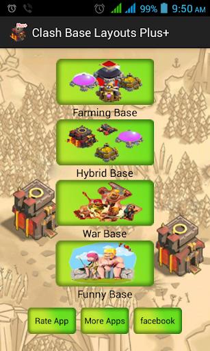 Clash Base Layouts Plus+