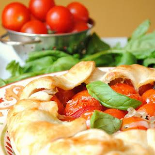 Tomato, Basil, Mozzarella Rustic Tart Recipe