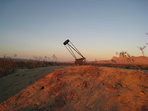 """Photo: Our trusty friend, the 10"""" telescope, waiting for the sun to set"""