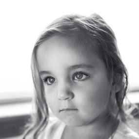 Precious by Autumn Wright - Babies & Children Children Candids ( children, wedding, black and white, cute, eyes )