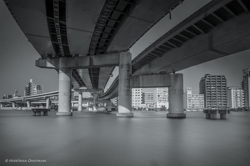 Photo: The Big Roads cover the Sky…  Ryougoku JCT with Sumida River in Tokyo…  With Sony NEX-7 & Voigtlander Ultra Wide-Heliar 12mm  #MonochromeMonday curated by+Hans Berendsen+Jerry Johnson+Manuel Votta+Steve Barge+Nurcan Azaz #LeadingLinesMonday curated by +Pam Chalkley-Boling+Michael Stuart+Elle Rogers+David Murphy #swdpcl +BW DIGITAL PHOTOGRAPHY CLASSIC STYLE #swdpclcurated by +peter paul müller #BridgesAroundTheWorld curated by +Carra Riley+Knut Arne Gjertsen #Elevatedexpressways curated by +Takahiro Yanai