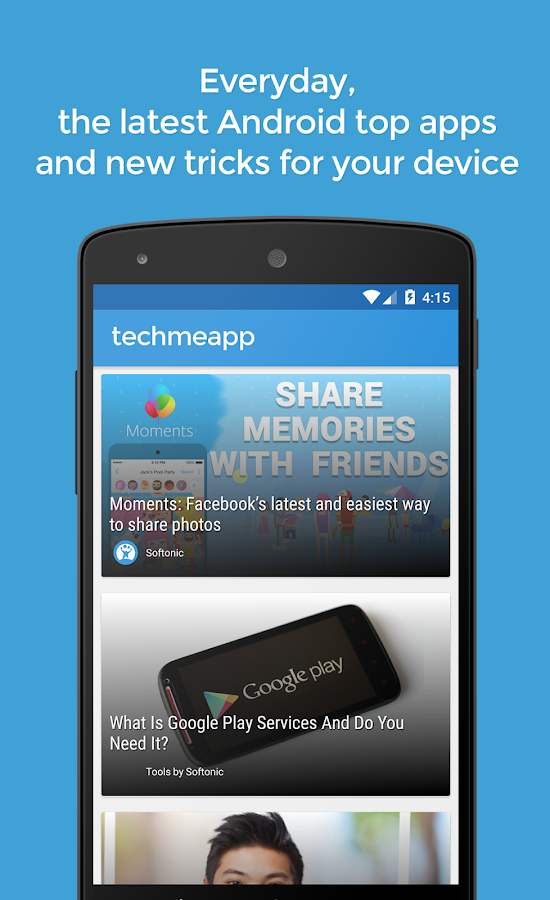 TechMeApp- screenshot