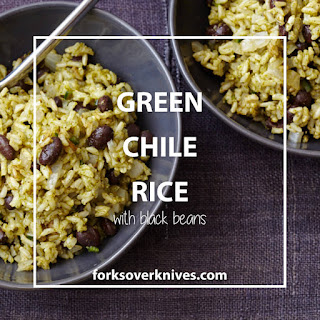 Green Chile Rice with Black Beans.