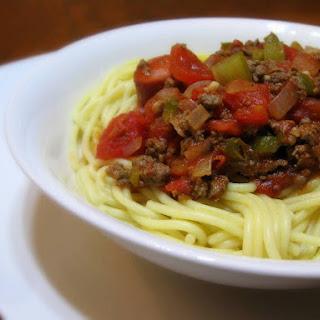 Mable Toups Venison Spaghetti.
