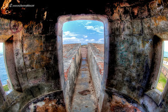 Photo: At San Felipe Del Morro in Old San Juan, Puerto Rico, inside one of the lookouts.