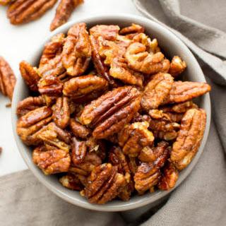 Skillet-Roasted Maple Cinnamon Pecans (Vegan, Paleo, Gluten Free, Dairy Free)