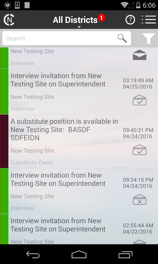 SchoolStream Notifications- screenshot