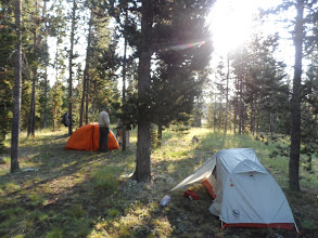 Photo: camp at Indian Creek