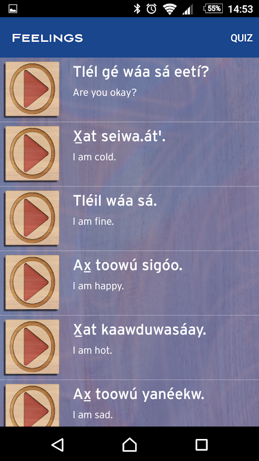 Learning Tlingit- screenshot