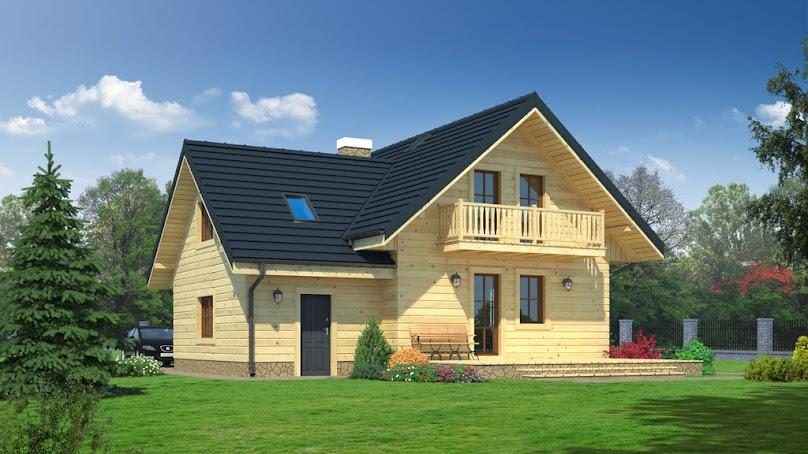 Projekt domu w konstrukcji szkieletowej
