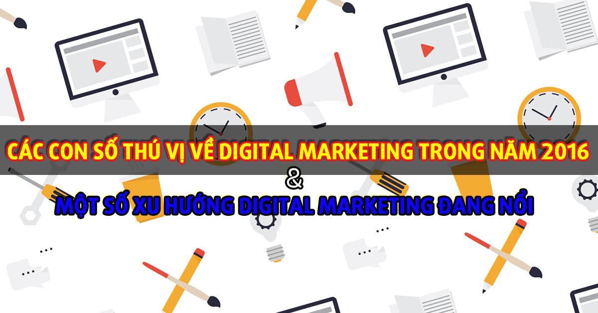 Các con số thú vị về Digital Marketing và một số xu hướng Digital Marketing đang nổi