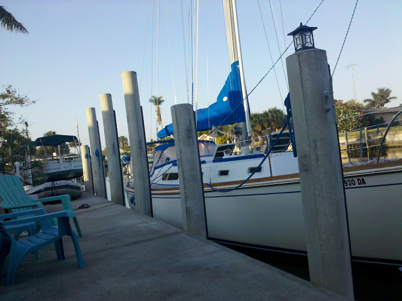 Photo: Getting ready for a sail in the harbor at Port Charlotte, Florida