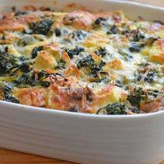 Spinach & Cheese Strata Recipe