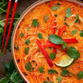 Instant Pot Coconut Red Curry Noodle Soup.