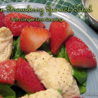 Chicken Strawberry Spinach Salad.