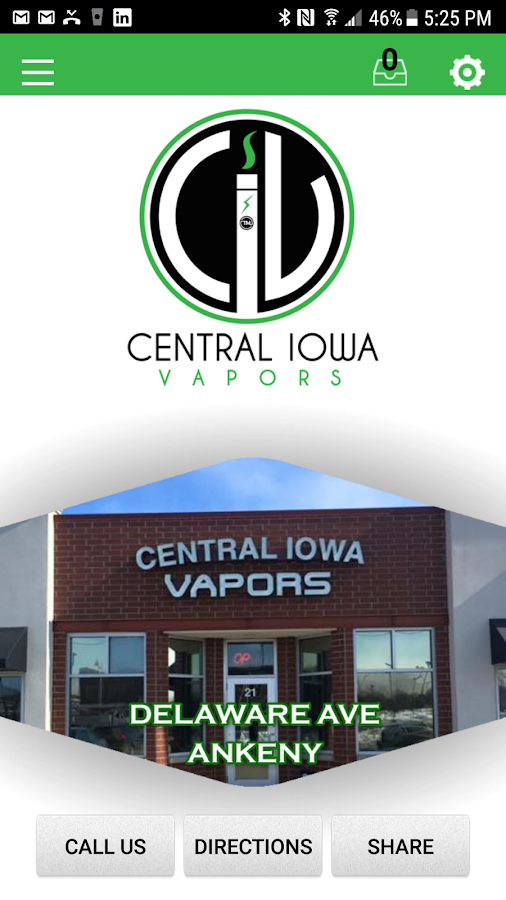 Central Iowa Vapors- screenshot