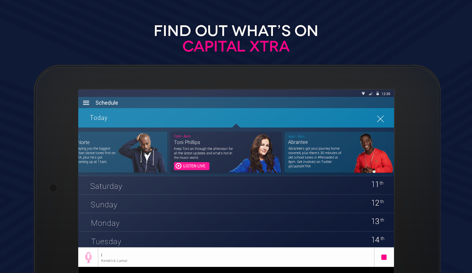 Capital XTRA Radio App- screenshot