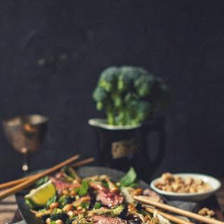 Coconut Flank & Broccoli Salad with Peanuts and Basil Recipe