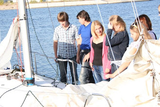 Photo: Day of arrival. Boats are ready and participants are checking it.  photo by Zlata Bredova