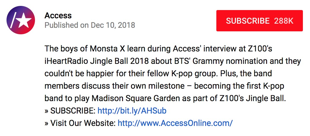 monsta x bts access 1