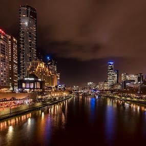 Melbourne, Australia by Linda Brown - City,  Street & Park  Skylines