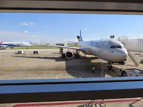 Photo: Our plane to Stockholm, where we caught our next flight to Riga