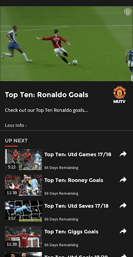 MUTV - Manchester United TV 2.4.0 screenshots 4