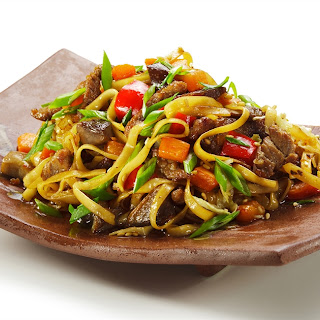 Chinese Beef And Noodle Stir-fry.