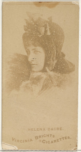 Helena Dacre, from the Actors and Actresses series (N45, Type 1) for Virginia Brights Cigarettes
