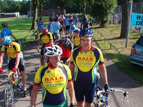 Photo: in de rij voor de start