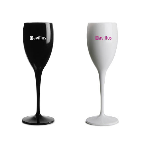 Printed Unbreakable Champagne Flutes