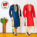 Men sherwani suit photo editor icon