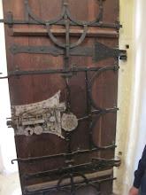 Photo: Rou5Ins311-151003porte sacristie et sa serrure, Biertan, église évangélique IMG_9025