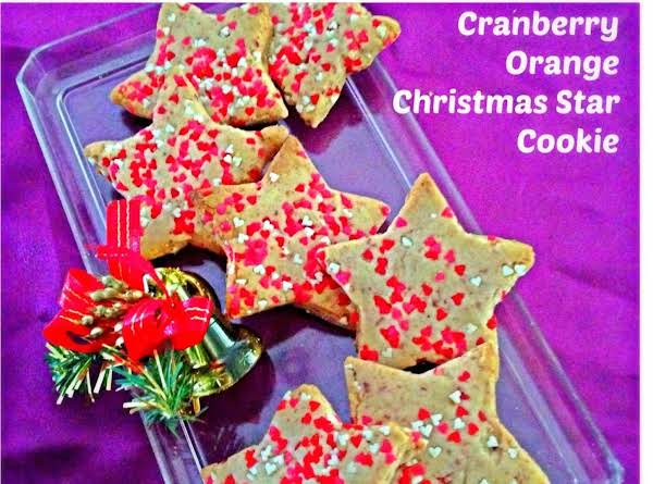 Cranberry Orange Christmas Star Cookies