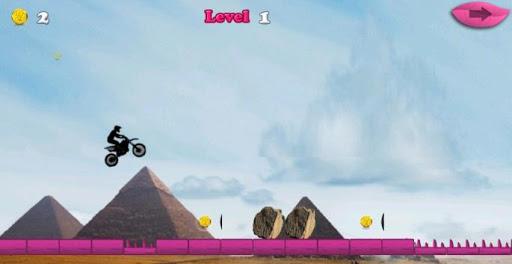 オートバイのジャンプ