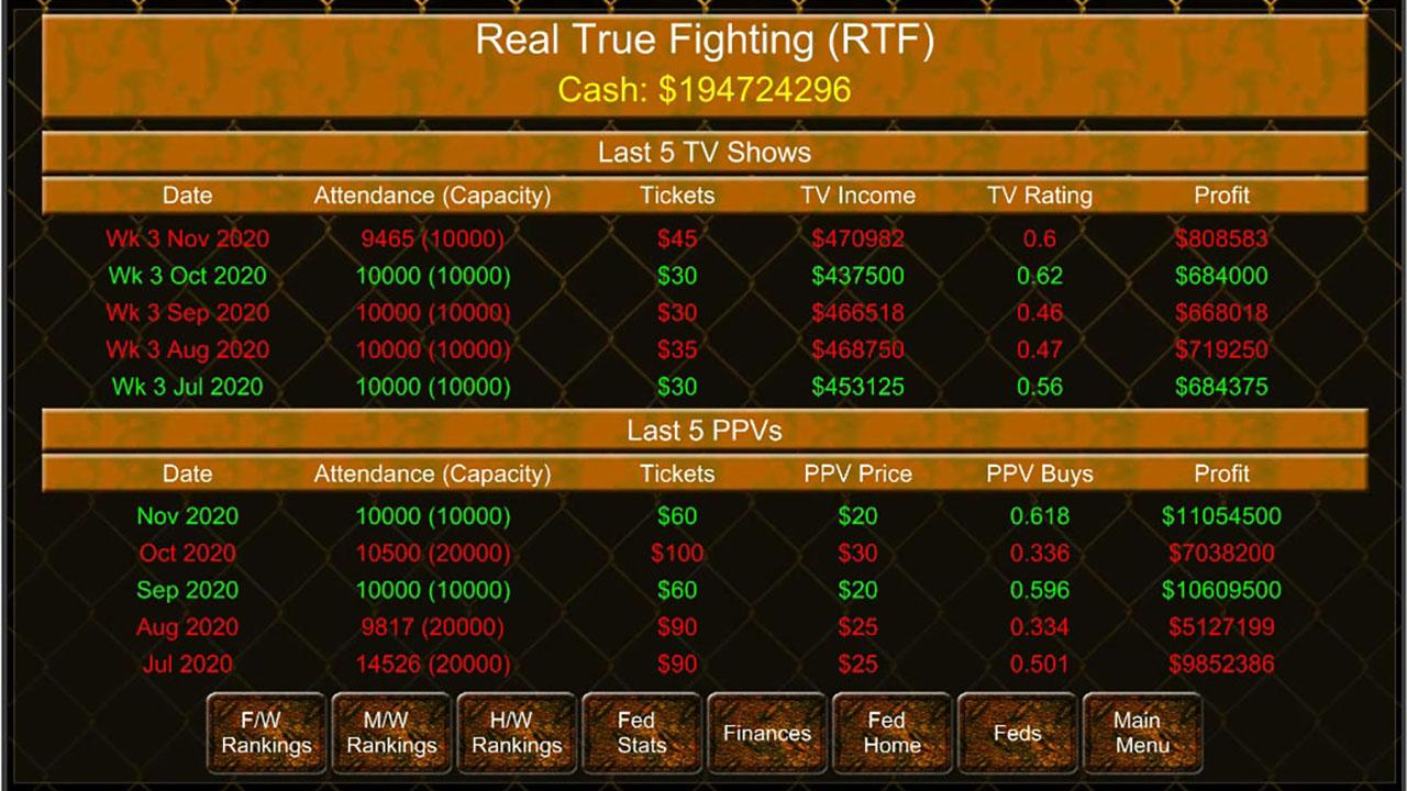 MMA Manager Game- screenshot