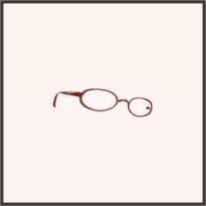 普通のメガネ(赤)
